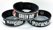 Sleeping With Sirens My Chemical Romance Green Day 3x Bracelet Wristband 3w49