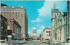 View on Capitol Avenue in Springfield IL Postcard
