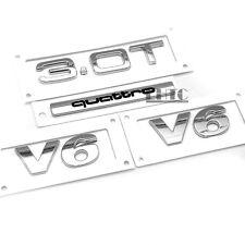 OEM 3.0T V6 Quattro Side Wing Rear Badge Emblem 4x Set For AUDI A4 A5 A6 A8 Q7