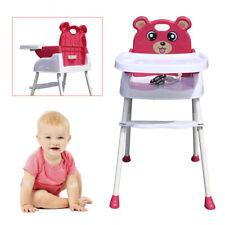 4 in1 Klappbar Kinderhochstuhl Baby Essstuhl Sitzerhöhung Treppenhochstuhl