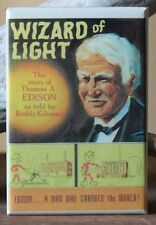 Wizard of Light Book Cover - Fridge Magnet. Thomas Edison Reddy Kilowatt