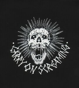 PATCHES - PUNK LARGE SQUARE LOGO 12x12 discharge nirvana ramones crimson ghost