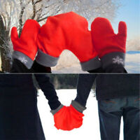 3pcs/set Women Men Winter Romantic Lover Gloves Warm Polar Fleece Mittens Gift