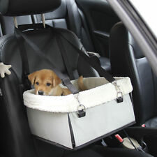 For Pet Dog Cat Car Seat Safety Puppy Carrier Travel Gear Booster Bed Bag Gray