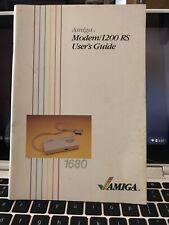 Amiga Modem/ 1200 RS User's Manual