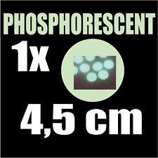 1 pastille Phosphorescente lumineuse la nuit rond 4,5 cm autocollant sticker