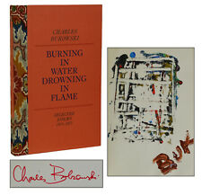 Burning in Water CHARLES BUKOWSKI Signed w Original Painting First Edition 1974