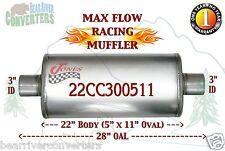 "Max Flow Muffler 22"" Oval Body 3"" Pipe Center/Center 28"" OAL 22CC300511"