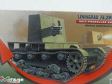 """Russischer Panzer """"Leningrad"""" 76,2 mm    -  Mirage  Bausatz 1:72 - 726027   #E"""