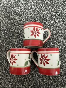 """Whittard Of Chelsea Art Deco Christmas Design Espresso Cup Set (3 Cups) 2.5"""""""