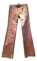 NEW, DSQUARED2 TAN BOOTCUT PANTS, 38, $895