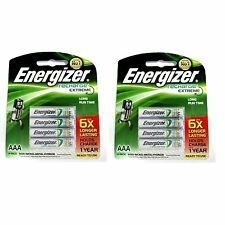 8pcs Energizer Rechargeable AAA NiMH 800 mAh Recharge Extreme Battery NEW