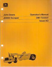 John Deere 860 Self-Propelled Scraper Operator's Manual