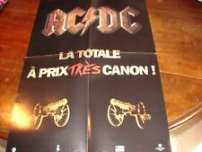 AC/DC DISCOGRAPHY!!!!!!!!!!RARE FRENCH PRESS/KIT/POSTER