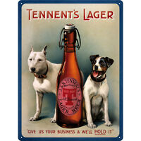 * Bier Werbung Beer Reproschild Hunde Plakat Bullterrier Jack Russell *628