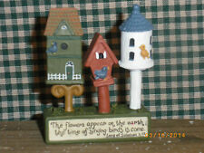 "Town of Birdhouses The Flowers appear on the Earth...2.25"" x 3""h Blossom Bucket"