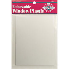 "Judikins Embossable Window Plastic Acetate 20 Sheets 4.25""X5.5"" AP405"