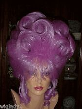 SIN CITY WIGS PRETTY PURPLE UP DO HOT DRAG QUEEN STYLE BIG VOLUMINOUS CURLS SEXY