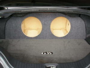 """ZEnclosures Subwoofer Box for the Infiniti G35 Coupe 2-10"""" Sub Speaker Box New!"""