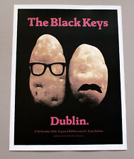 BLACK KEYS screenprinted concert poster DUBLIN Ireland 10/27/10 by Alan Hynes