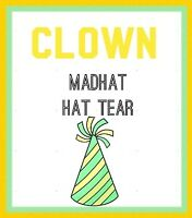 CLOWN Hat TEARS (12) by MadHAT 2 Pieces of Torn Tiisue Transform Into HAT! Magic