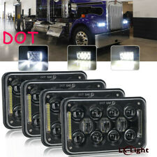 4x6 Inch LED Headlights Cree High Low Beam DRL For Kenworth T800 T400 T600A W900