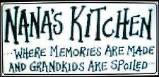 NANA'S KITCHEN (SAMPLER/SAYING) ~ Counted Cross Stitch KIT #K1114