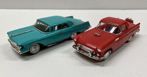 Ideal Motorific Ford Thunderbird & Chrysler Imperial with Chassis and Motors