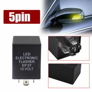 5-Pin EP27 FL27 LED Headlight Electronic Flasher Relay Turn Signal Hyper Flash