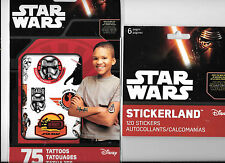 STAR WARS THE FORCE AWAKENS TEMPORARY TATTOOS DECALS STICKERS LOT NEW FREE SHIP