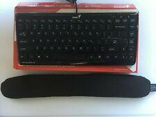 Used Genius Luxmate i200 wired Keyboard (no num pad) & IMAK Ergobeads wrist rest