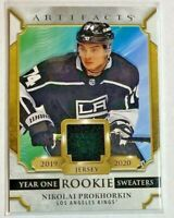 Nikolai Prokhorkin game-used relic 2020-21 Upper Deck Artifacts - LA Kings RS-NP