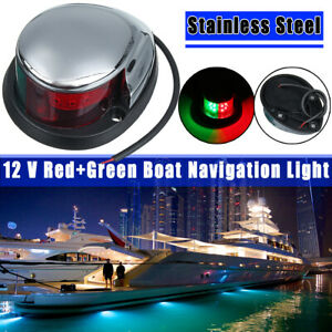 LED Starboard Port Navigation Light Nav Lamp Boat Yacht Bow Green & Red