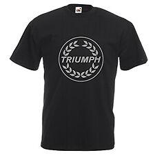 Triumph motorcycle logo T-shirt black, Harley, Chevy, Tri Five, Scooter, Vespa,