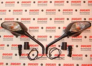 Ducati Multistrada mirrors 523200131C/141C long PAIR w/ Turn Signals E2225060/1