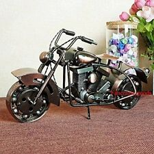 "9"" Long Motorcycle Model Handmade Metal Art Home Decor Ornament figurines Bronze"