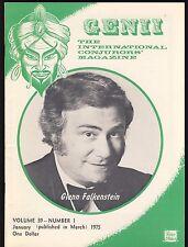 Glenn Falkenstein Genii Magicians Magazine January 1975 - contents in post