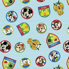 "1 yard  Disney ""Mickey  Fun with Friends""  Fabric"