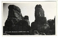 Gog And Magog - Lands End Real Photo Postcard c1950s / Cornwall