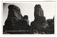 Gog And Magog - Lands End Real Photo Postcard c1950s / Cornwall