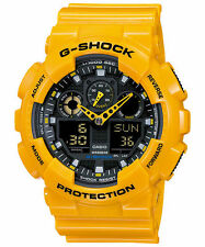 New Casio G-Shock GA-100A-9A Quartz Movement Digital Dial Men's Watch