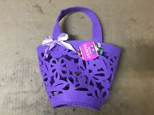 Rite Aid Easter Purple Floral Cut Out Print Easter Basket
