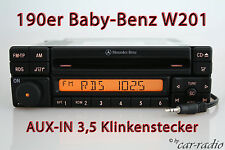 MERCEDES Autoradio Originale SPECIAL mf2297 Aux-in mp3 w201 Classe C CD-R jack da