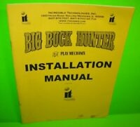 Big Buck Hunter ORIGINAL Video Arcade Game Machine Instruction Manual 2001