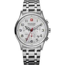 Swiss Military Hanova Men's 43mm Steel Bracelet Quartz Watch 06-5187.04.001