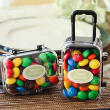 Mini Rolling Travel Suitcase Box Wedding Favors Party Reception Candy Toy NEW