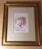 rembrandt van rijn etching 103 D by salvador dali