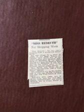 N5a Ephemera 1966 Article Miss Redruth Wendy Moore
