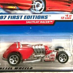 Hot Wheels Saltflat Racer Red 1997 First Editions 4/12 Mint on Card