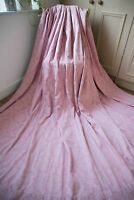 PINK DAMASK CURTAIN,102WX85D,JOHN LEWIS,COTTON JACQUARD,LINED,HUGE,EXTRA WIDE